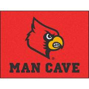 """Fan Mats University Of Louisville Man Cave All-Star Mat 34"""" X 45"""" - 14657"""