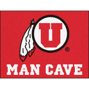 "Fan Mats University Of Utah Man Cave All-Star Mat 34"" X 45"" - 14705"