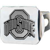 """Ohio State University - 3-D Chrome Hitch Cover 3-3/8"""" x 4"""" - 15049"""