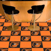 "Fan Mats MLB - Baltimore Orioles Cartoon Bird Carpet Tiles 18"" X 18"" Tiles - 15170"