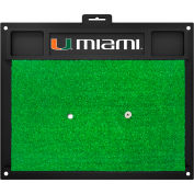 "Fan Mats University Of Miami Golf Hitting Mat 20"" X 17"" - 15508"