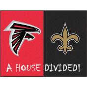 "Fan Mats NFL - Atlanta Falcons/New Orleans Saints House Divided Rugs 34"" X 45"" - 15553"