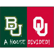 "Fan Mats Baylor/Oklahoma House Divided Rugs 34"" X 45"" - 16218"