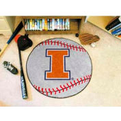 "Illinois Baseball Rug 29"" Dia."