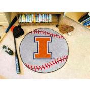 "Illinois Baseball Rug 29"" Dia."