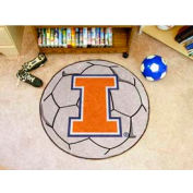 "Illinois Soccer Ball Rug 29"" Dia."
