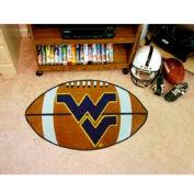 "West Virginia Football Rug 22"" x 35"""