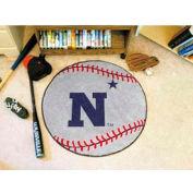"""US Naval Academy Baseball Rug 29"""" Dia."""