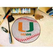 "Miami Baseball Rug 29"" Dia."