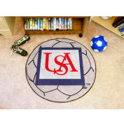 "South Alabama Soccer Ball Rug 29"" Dia."