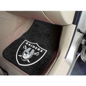 "NFL - Oakland Raiders - 2 Piece Carpeted Car Mat Set 17""W x 27""L - 5934"