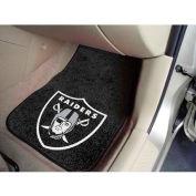 "NFL - Oakland Raiders - 2 Piece Carpeted Car Mat Set 17""W x 27""L - 5934"