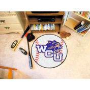 "Western Carolina Baseball Rug 29"" Dia."