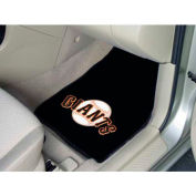 "MLB - San Francisco Giants - 2 Piece Carpeted Car Mat Set 17""W x 27""L - 6540"