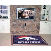 """Denver Broncos Rug 4 x 6 46"""" x 72"""""""