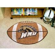 """Western Michigan Football Rug 22"""" x 35"""""""