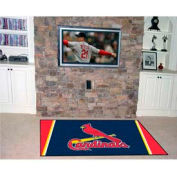 "St Louis Cardinals Rug 4 x 6 46"" x 72"""