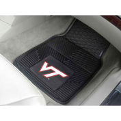 "Virginia Tech - Heavy Duty Vinyl 2 Piece Car Mat Set 17""W x 27""L - 8766"