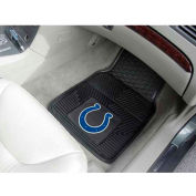 "NFL - Indianapolis Colts - Heavy Duty Vinyl 2 Piece Car Mat Set 17""W x 27""L - 8769"