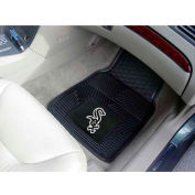 "MLB - Chicago White Sox - Heavy Duty Vinyl 2 Piece Car Mat Set 17""W x 27""L - 8833"