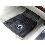 "NFL - Los Angeles Rams - Heavy Duty Vinyl 2 Piece Car Mat Set 17""W x 27""L - 8906"