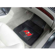"NFL - Tampa Bay Buccaneers - Heavy Duty Vinyl 2 Piece Car Mat Set 17""W x 27""L - 8908"