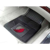 "NBA - Portland Trail Blazers - Heavy Duty Vinyl 2 Piece Car Mat Set 17""W x 27""L - 9390"