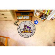 "James Madison Soccer Ball Rug 29"" Dia."