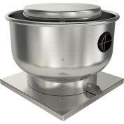 "Fantech 16"" Roof Ventilator Direct Drive Upblast 5DDU16DB, 1/2 HP, 115/230V, 1 PH, 2964 CFM, ODP"