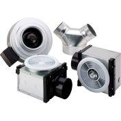 """Fantech Dual Grille Bath Fan PB270HV-2, 120V, 1 PH, 270 CFM, 50W Halogen Light, 4"""" & 6"""" Duct"""