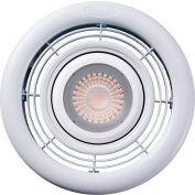 "Fantech 7"" Ceiling Grille & Housing PBL104, 10W LED Light, 4"" Duct"