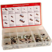 Metric Woodruff Key Assortment - 18 Items, 350 Pieces - M1.5 to M10 - Steel - Plain - Made In USA
