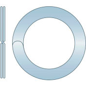 "Split Ring - .542"" O.D. x .428"" I.D. x .057"" Thick - Spring Steel - Zinc Clear - USA - Pkg of 585"