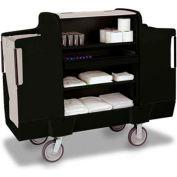 """Forbes ULTRA 2000 Housekeeping Cart with 8"""" Wheels, Black - 2000-8-EN"""
