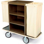 Forbes Steel Housekeeping Cart, Sierra Brown - 2113-SB