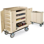 Forbes 4402-BE-BN - Beverage Restock Cart, Stainless Steel