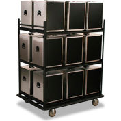 Forbes 6263 - Transport/Storage Cart, Black, Painted Steel Tube Frame, Holds 18 Forbes Boxes