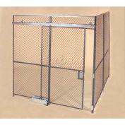 Wov-N-Wire™ Wire Mesh Pre-Designed, 2 Sided Room Kit, 10'W X 10'D X 10'H, W/Slide Door