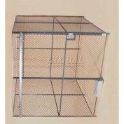 Wov-N-Wire™ Wire Mesh Pre-Designed, 4 Sided Room Kit, 20'W X 15'D X 10'H, W/Slide Door