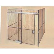 Wov-N-Wire™ Wire Mesh Pre-Designed, 3 Sided Room Kit, 20'W X 15'D X 8'H, W/Slide Door