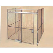 Wov-N-Wire™ Wire Mesh Pre-Designed, 3 Sided Room Kit, 20'W X 20'D X 10'H, W/Slide Door