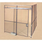 Wov-N-Wire™ Wire Mesh Pre-Designed, 2 Sided Room Kit, 30'W X 20'D X 10'H, W/Slide Door