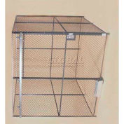 Wov-N-Wire™ Wire Mesh Pre-Designed, 4 Sided Room Kit, 30'W X 20'D X 8'H, W/Slide Door