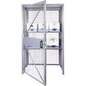"Stor-More® LPC-4818 Loss Prevention Security Cabinet 48""W x 18""D x 84""H Single Door Unassembled"