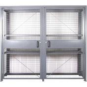 """Stor-More® LPC-9618 Loss Prevention Security Cabinet 96""""W x 18""""D x 84""""H Double Door Unassembled"""