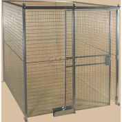 Qwik-Fence® Wire Mesh Pre-Designed, 4 Sided Room Kit, W/O Roof 16'W X 16'D X 8'H, W/Slide Door