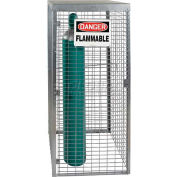"""Saf-T-Stor™ Cylinder Cabinet 29""""W X 29""""D X 66""""H, Capacity 9 Vertical, Galvanized"""