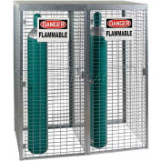 "Saf-T-Stor™ Cylinder Cabinet 58""W X 29""D X 66""H, Capacity 18 Vertical, Galvanized"