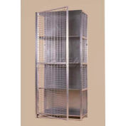 "Stor-More® Visibility Locker 36""W X 18""D X 80""H W/3 Adjustable Shelves & Top/Bottom"