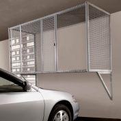 Folding Guard Garage Storage Locker WM833 Wall Mount With Sliding Door 8'W x 3'D x 3'H, Machine Gray